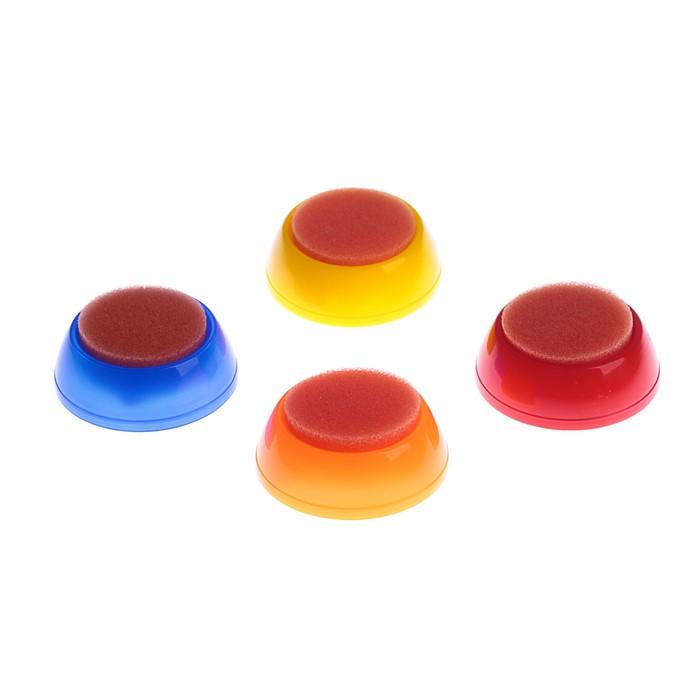Увлажнитель для пальцев круглый, 4 цвета микс