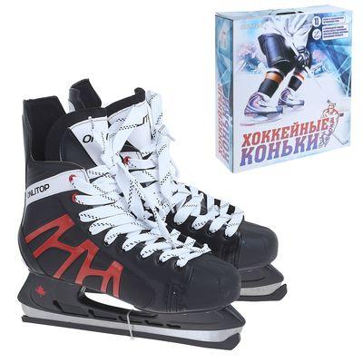 Коньки хоккейные 206Р black, размер 42