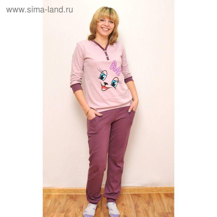 Комплект женский (фуфайка, брюки) ТК-500, цвет микс, размер 48, интерлок