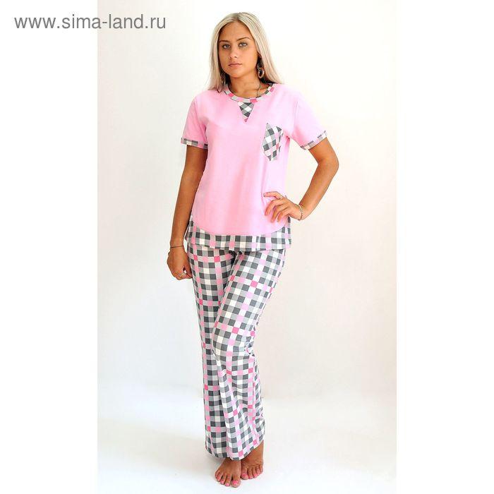 Комплект женский (футболка, брюки) ТК-553 МИКС, р-р 52  интерлок