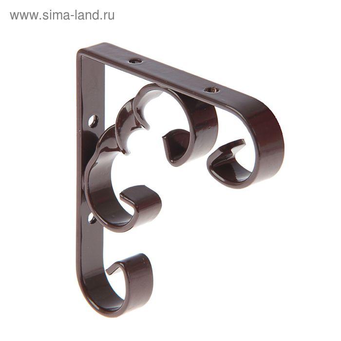 Кронштейн декоративный, тип 1, 100х100 мм, коричневый