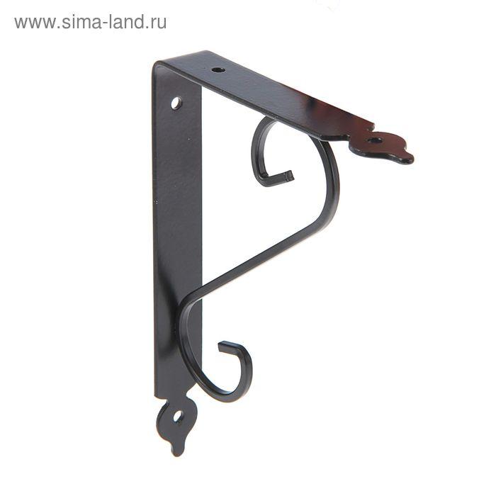 Кронштейн декоративный, тип 2, 180х230 мм, черный