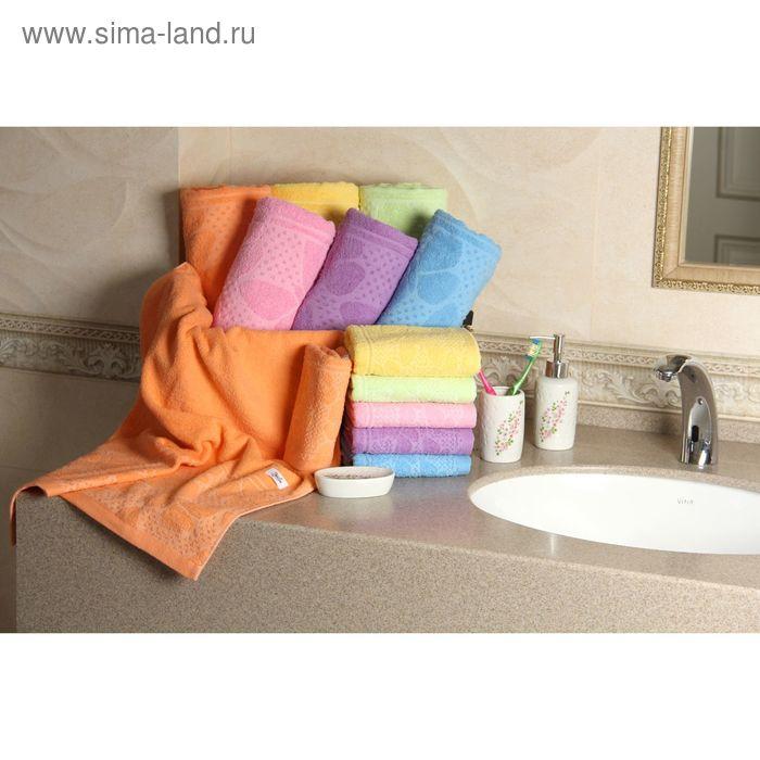 """Полотенце махровое """"Этель"""" Ариа оранжевый 70*140 см, 100% хлопок, 400гр/м2"""