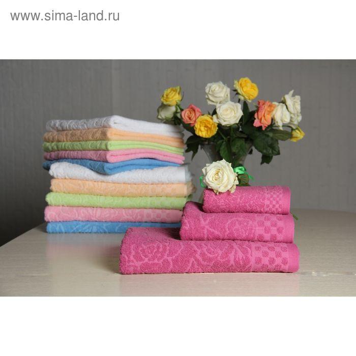 """Полотенце махровое """"Этель"""" Фарфалле темно-розовый 30*70 см, 100% хлопок, 400гр/м2"""