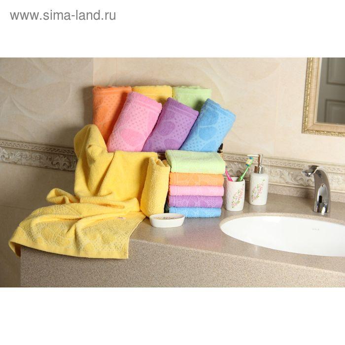 """Полотенце махровое """"Этель"""" Ариа желтый 70*140 см, 100% хлопок, 400гр/м2"""