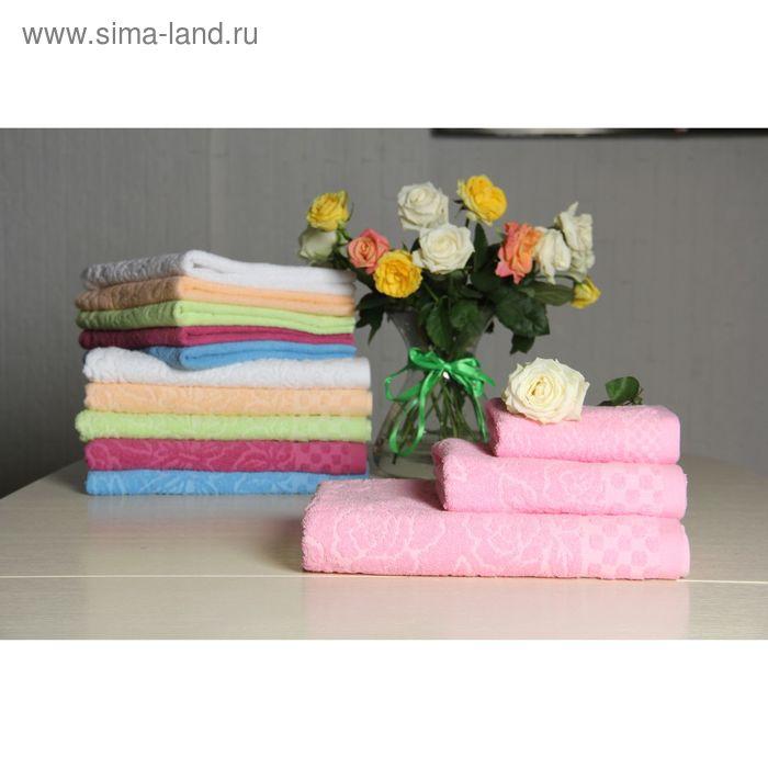 """Полотенце махровое """"Этель"""" Фарфалле розовый 30*70 см, 100% хлопок, 400гр/м2"""