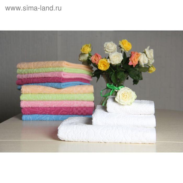 """Полотенце махровое """"Этель"""" Фарфалле белый 30*70 см, 100% хлопок, 400гр/м2"""