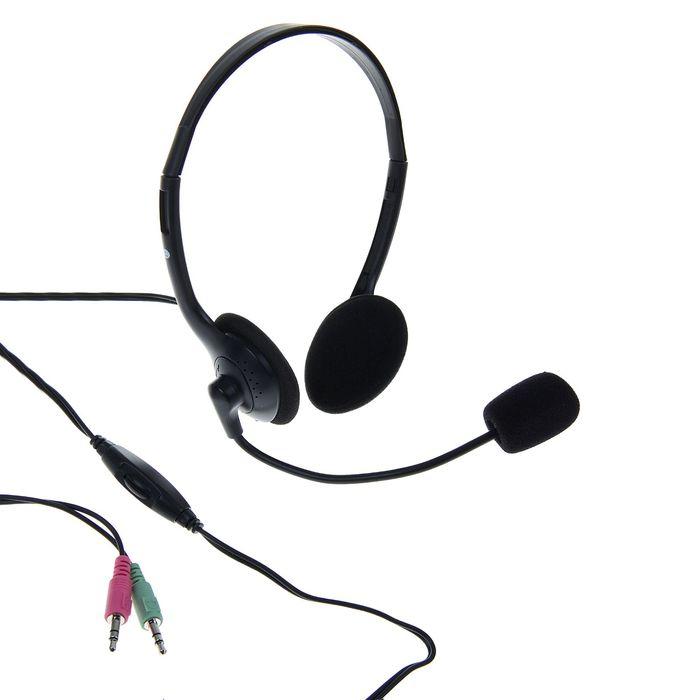 Гарнитура SmartBuy EZ-TALK, регулировка громкости, кабель 1.8 м, чёрная
