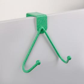 Вешалка надверная на 2 крючка «Лайт», 17×12×5,5 см, цвет МИКС