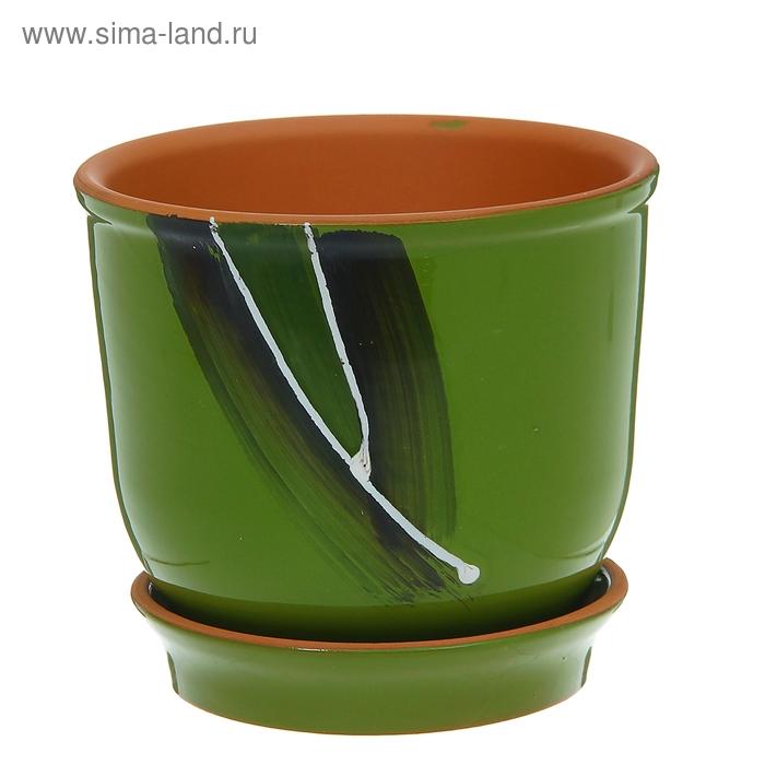 "Кашпо ""Агат"" зелёное 1 л"