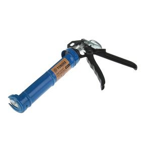 Пистолет для герметика TUNDRA comfort, полуоткрытый, круглый шток, 225 мм