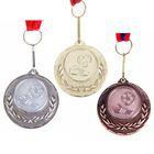 """Медаль тематическая 034 """"Футбол"""" бронза"""