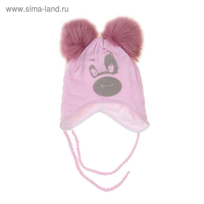 """Шапка для девочки """"Панда"""", размер 50-52, цвет МИКС"""