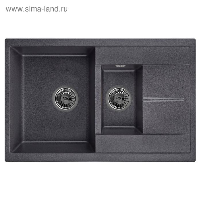 Мойка кухонная гранитная Granula 7802, чёрная