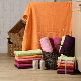 Полотенце махровое 'Этель' Симфония оранжевый 30*70 см, 100% хлопок, 400гр/м2 Ош
