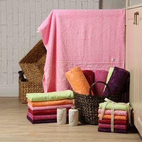 Полотенце махровое 'Этель' Симфония розовый 30*70 см, 100% хлопок, 400гр/м2 Ош