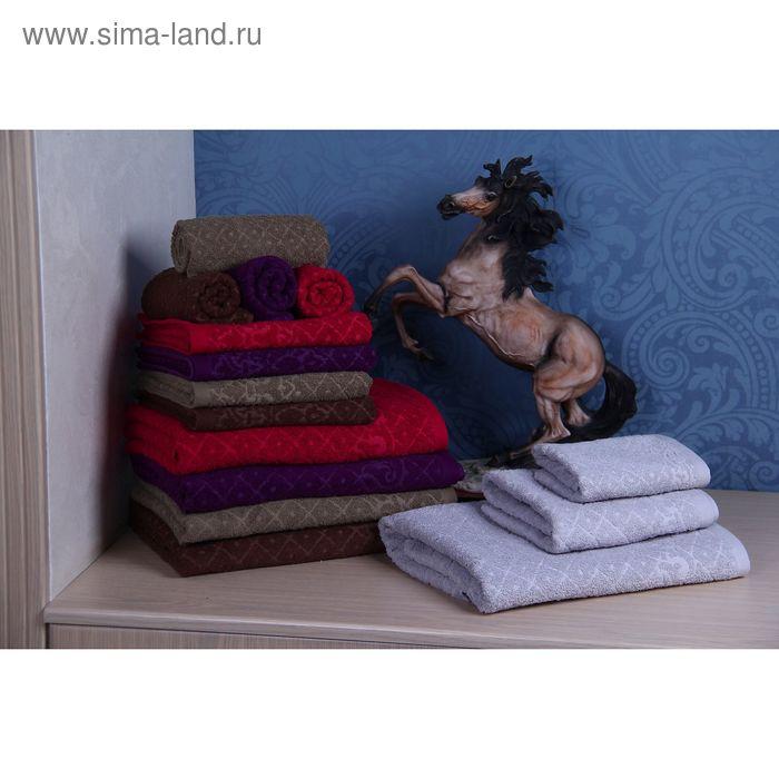 """Полотенце махровое """"Этель"""" Тоскана серый 50*90 см, 100% хлопок, 400гр/м2"""