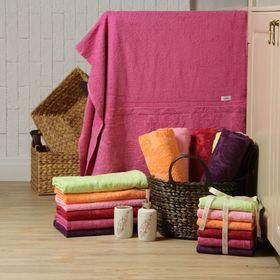 Полотенце махровое 'Этель' Симфония темно-розовый 30*70 см, 100% хлопок, 400гр/м2 Ош