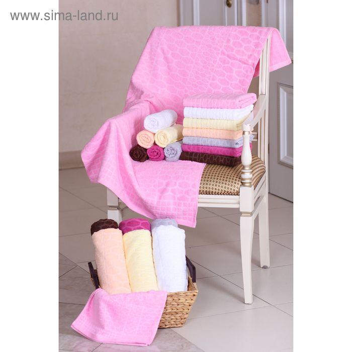 """Полотенце махровое """"Этель"""" Серпенте розовый 50*90 см, 100% хлопок, 400гр/м2"""
