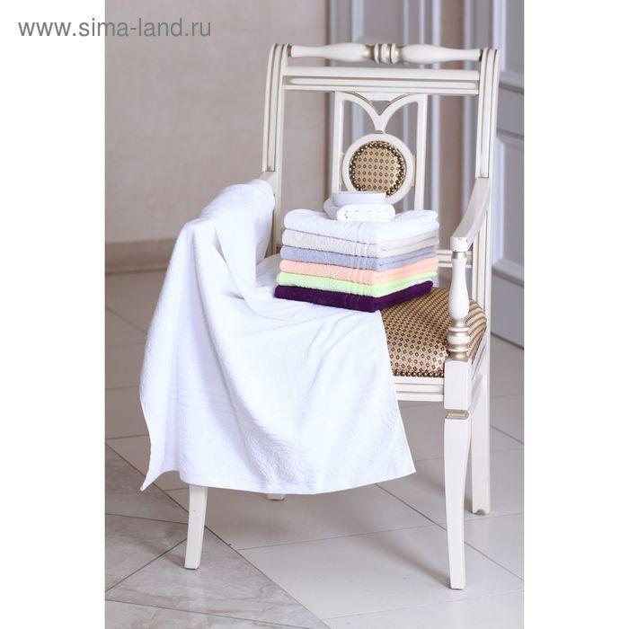 """Полотенце махровое """"Этель"""" Рапсодия белый 70*140 см, 100% хлопок, 400гр/м2"""