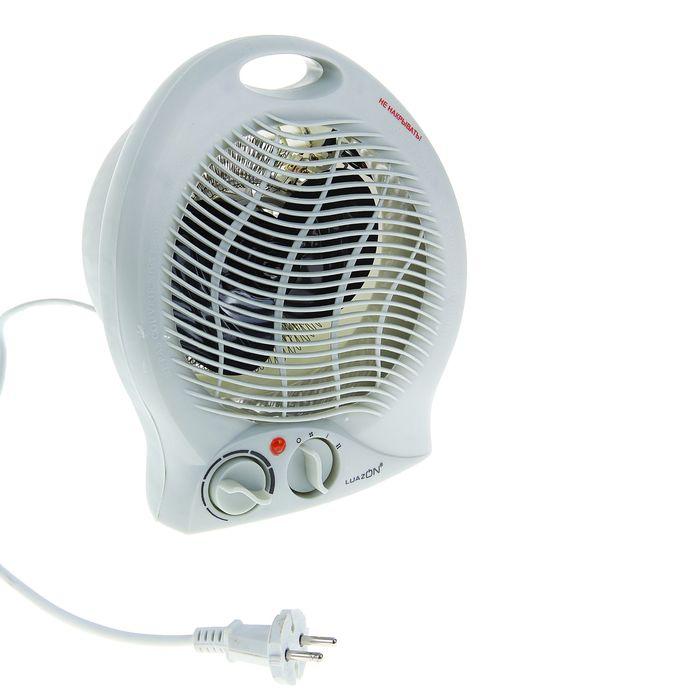 Тепловентилятор LuazON LTO-02, 2 режима, белый