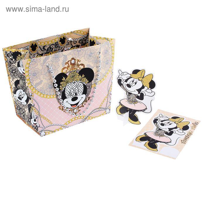 """Пакет-сумка """"Минни Маус"""", Минни Маус, + бумажная 3D-игрушка"""