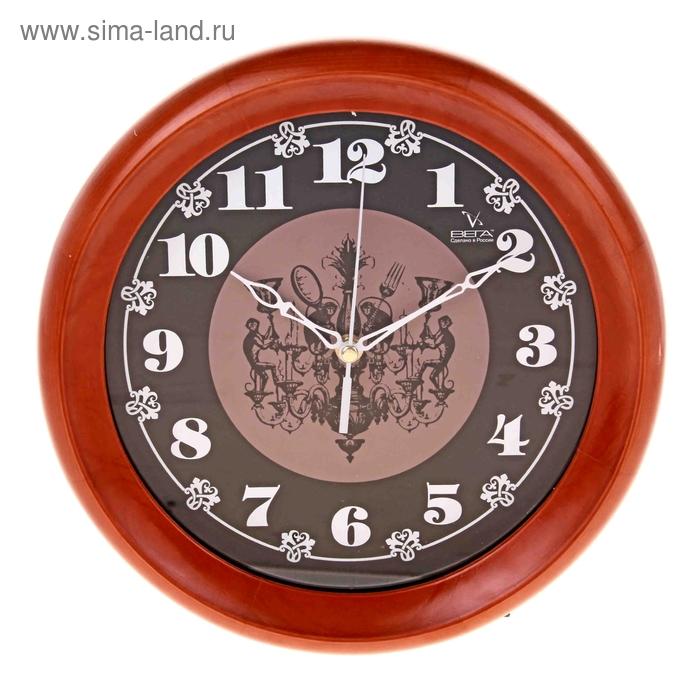"""Часы настенные круглые """"Мартышки"""", деревянные"""