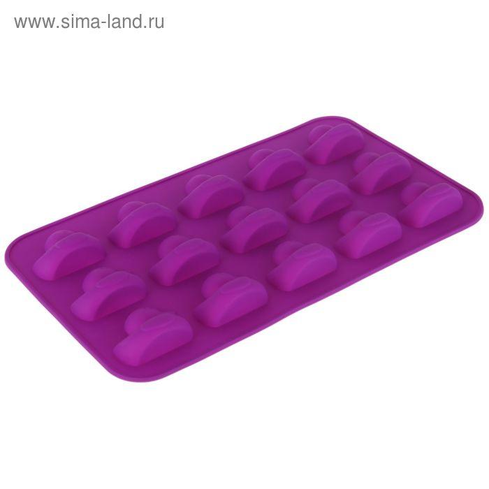 """Форма для выпечки, 15 ячеек, 30х17,5х2 см """"Утята"""", цвета МИКС"""