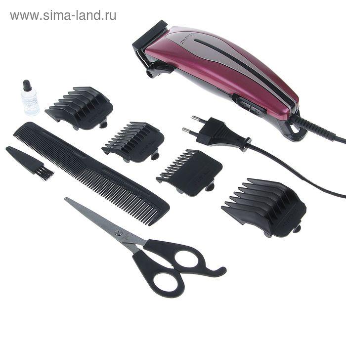 Машинка для стрижки волос Zimber ZM-10036, 4 насадки  микс