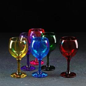 """Набор бокалов для вина 290 мл """"Радуга"""", 6 шт"""