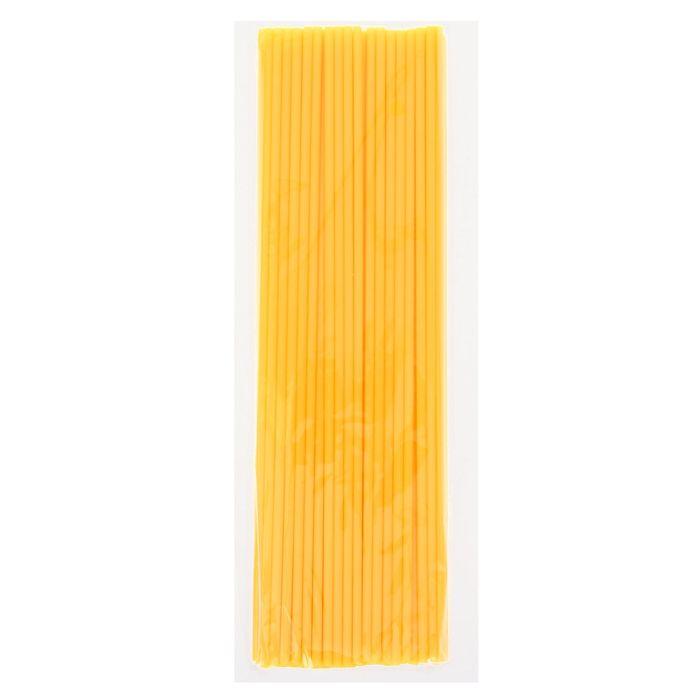 Трубочка для шаров, 32 см, d=5 мм, цвет жёлтый