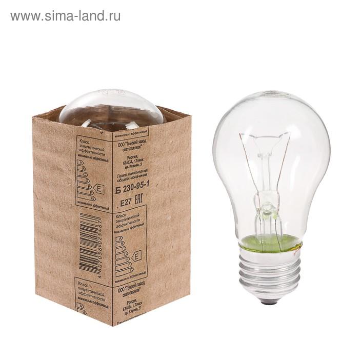 Лампа накаливания Б, Е27, 230-240 В, 95 Вт