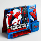 """Планинг на подставке с местом под ручку """"Суперпланы Супергероя"""", Человек-Паук"""