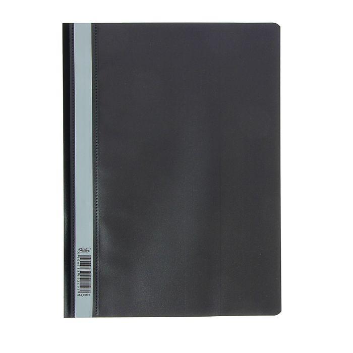Папка-скоросшиватель А4, 140/180мкм Hatber, черная