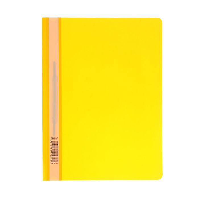 Папка-скоросшиватель А4, 140/180мкм Hatber, желтая
