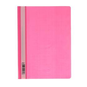 Папка-скоросшиватель А4, 140/180 мкм, розовая