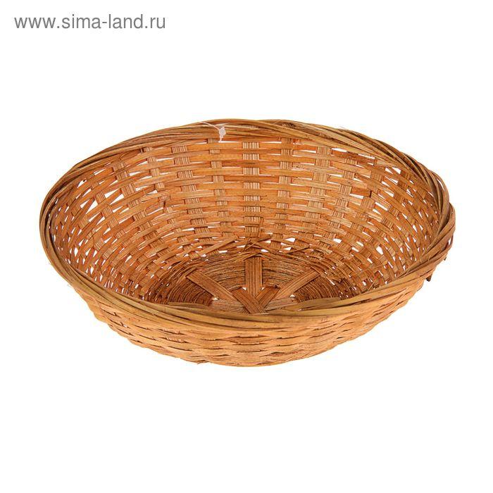 Хлебница плетёная, бамбук, коричневая