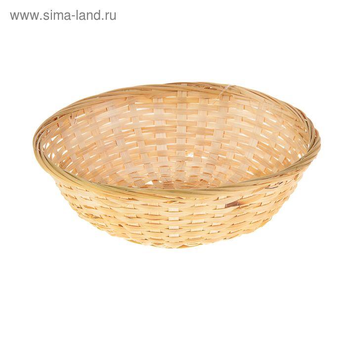 Хлебница плетёная, бамбук, натуральный цвет