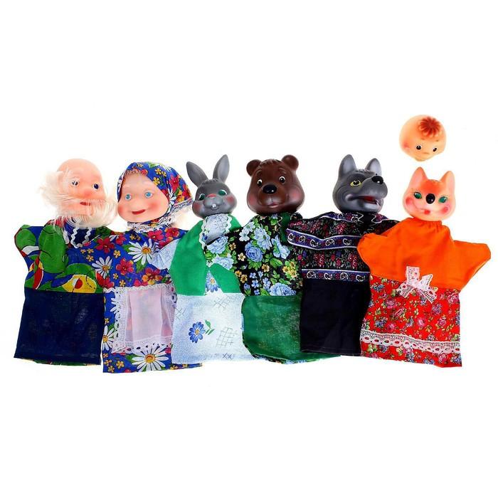Кукольный театр «Колобок», 6 кукол - фото 797668493