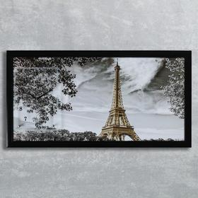 """Часы-картина настенные, серия: Город, """"Эйфелева башня"""", 50х100  см, микс"""