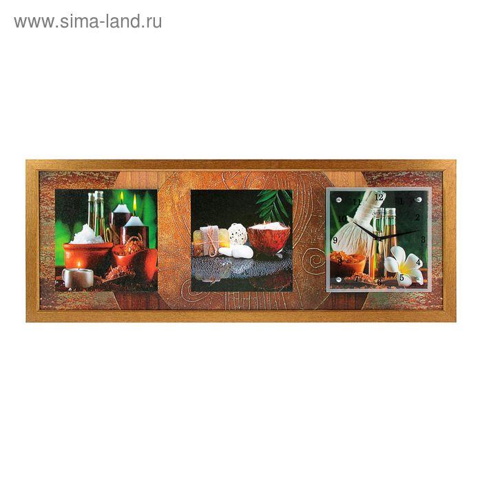 """Часы-картина настенные """"Благовония и пряности"""", 35х100 см"""