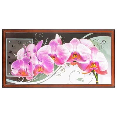 """Часы-картина настенные, серия: Цветы, """"Нежная орхидея"""", 50х100  см, микс"""