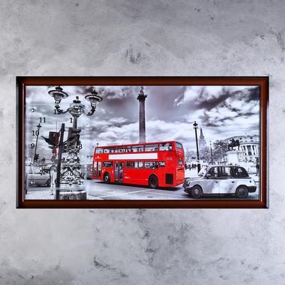 """Часы-картина настенные, серия: Город, """"Лондонский даблдекер"""", 50х100  см, микс"""