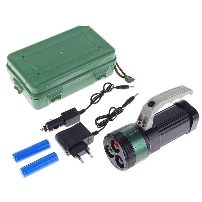 Фонарик светодиодный Finder Zoom с ручкой, 3 режима, 3 сменных цвета, чёрный