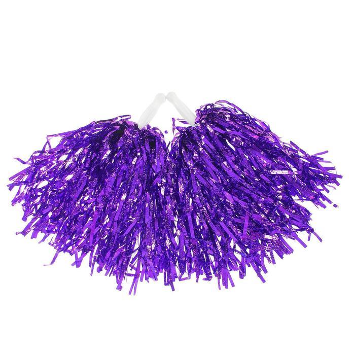 Гофрированные помпоны, набор 2 шт., цвет фиолетовый