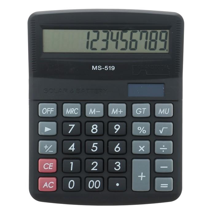Калькулятор настольный, 12-разрядный, 519-MS, двойное питание - фото 666156256