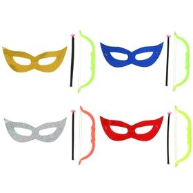 "A set of ""Arrows"" 2 pieces: mask, bow, MIX colors"