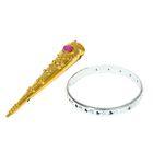 """Carnival set """"Metallic"""", 2 pieces: bracelet, fingertip, MIX colors"""