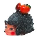 """Садовая фигура """"Ёжик с грибом и яблоком"""""""