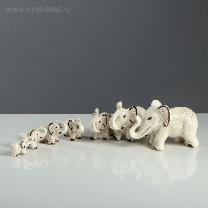 """Набор сувениров """"Слоны"""" шамот (7 предметов)"""